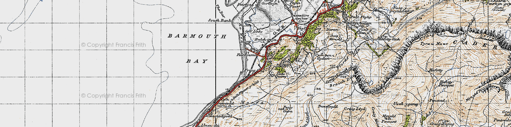 Old map of Friog in 1947