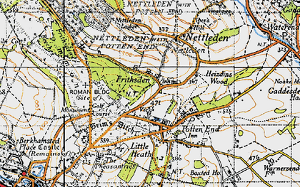 Old map of Frithsden in 1946