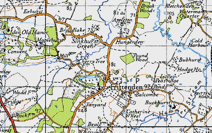 Old map of Frittenden in 1940