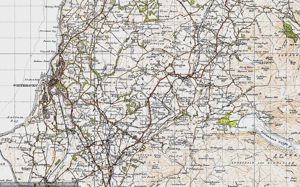 Old Map of Historic Map covering Acrewalls in 1947