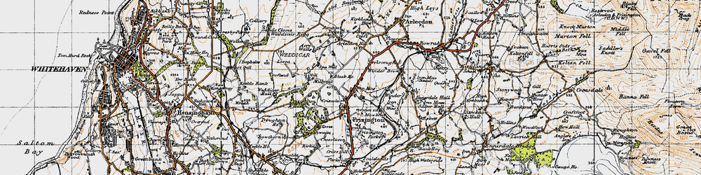 Old map of Acrewalls in 1947