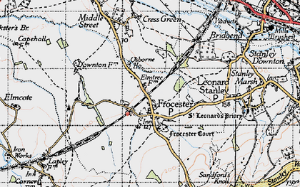 Old map of Frocester in 1946