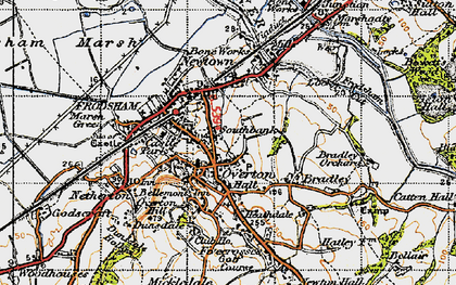 Old map of Frodsham in 1947
