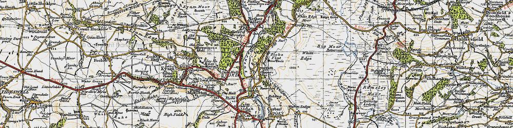 Old map of Froggatt in 1947