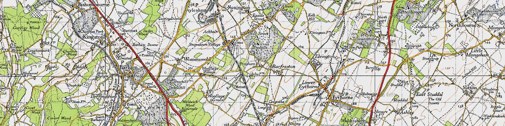 Old map of Frogham in 1947