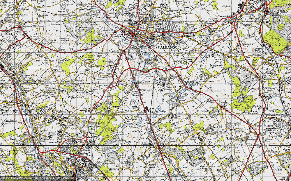Old Map of Frogmore, 1946 in 1946
