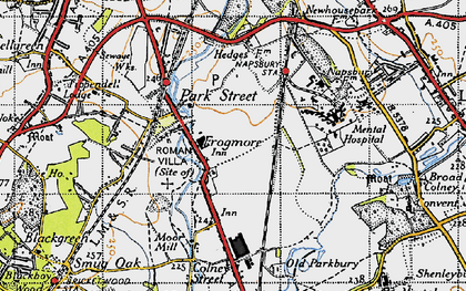 Old map of Frogmore in 1946