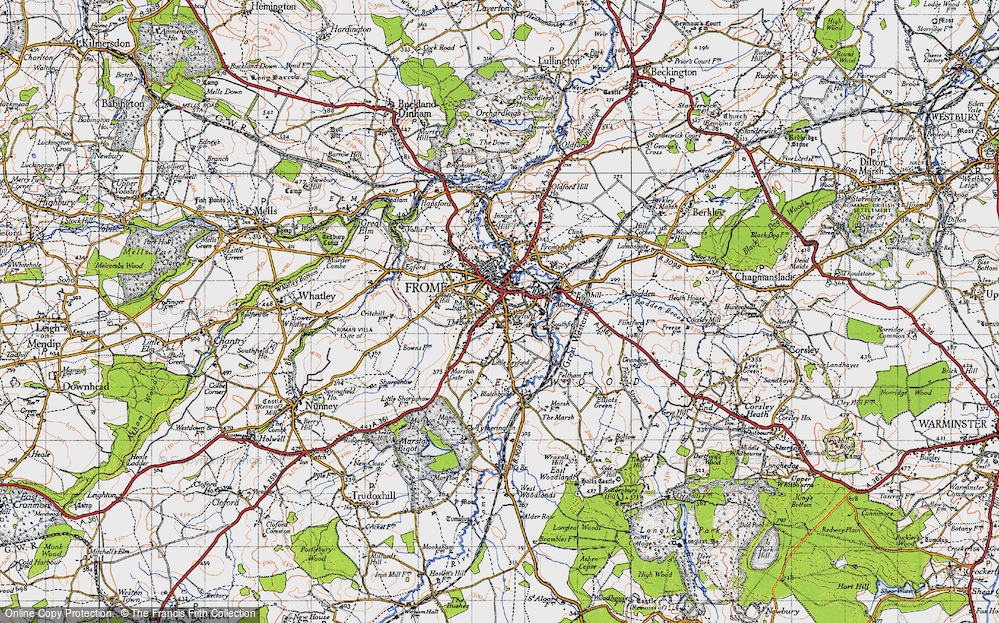 Old Map of Frome, 1946 in 1946