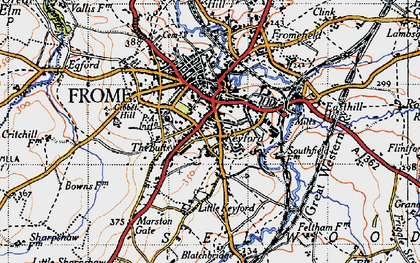 Old map of Frome in 1946