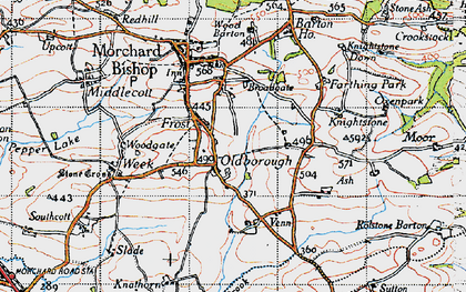 Old map of Aish in 1946