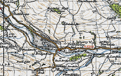 Old map of West Newlands in 1947