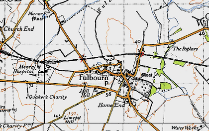 Old map of Fulbourn in 1946
