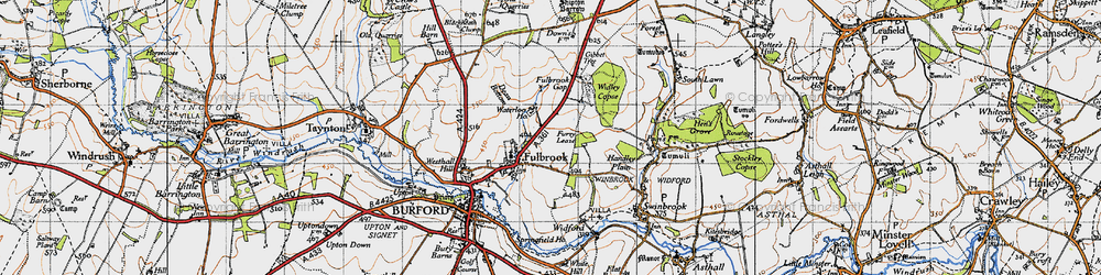 Old map of Widley Copse in 1946