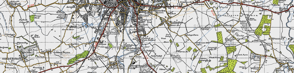 Old map of Fulford in 1947