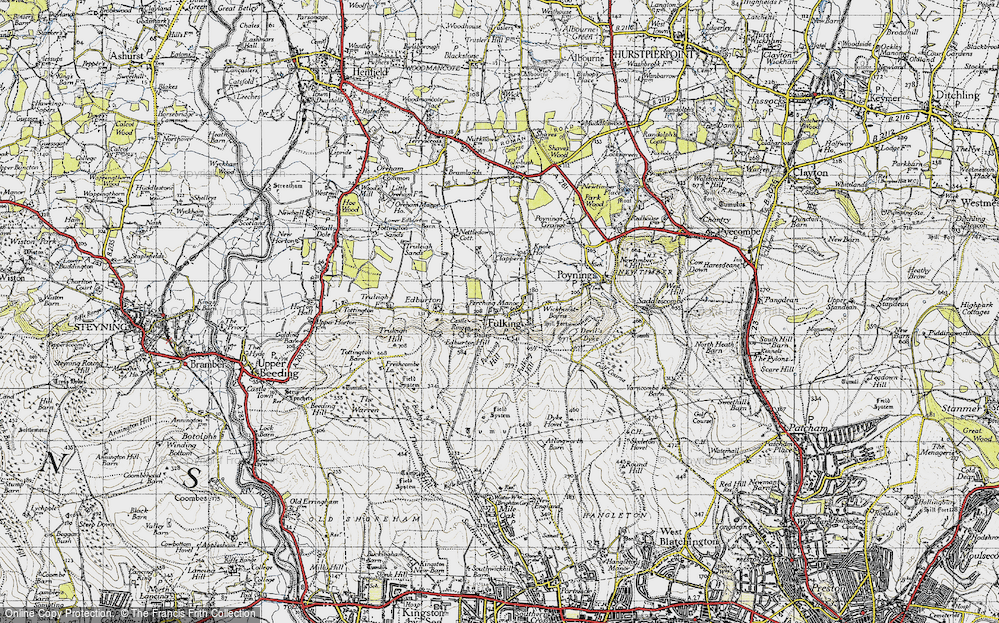 Old Map of Fulking, 1940 in 1940