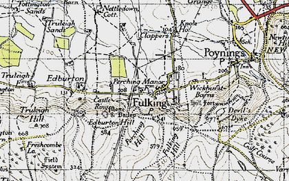 Old map of Wickhurst Barns in 1940