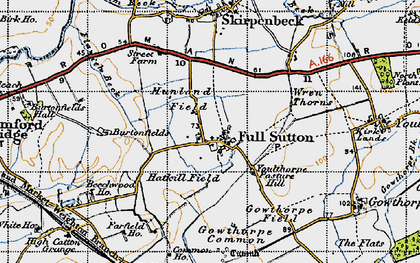 Old map of Winter Beck in 1947
