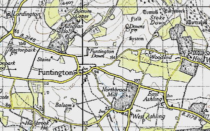 Old map of Adsdean Ho in 1945