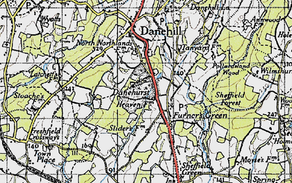Old map of Latchetts in 1940