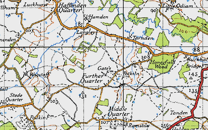 Old map of Langley in 1940