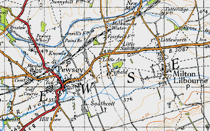 Old map of Fyfield in 1940