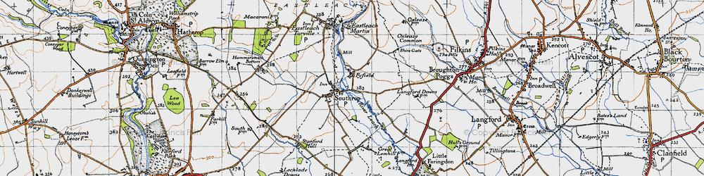 Old map of Tiltup in 1947