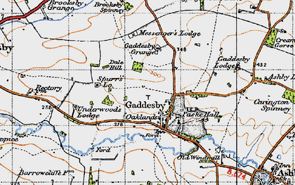 Old map of Gaddesby in 1946