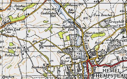 Old map of Gadebridge in 1946