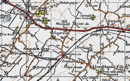 Old map of Gaerwen in 1947