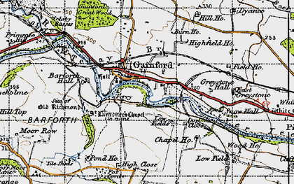 Old map of Barforth Hall in 1947