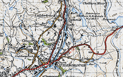Old map of Aiggin Stone in 1947
