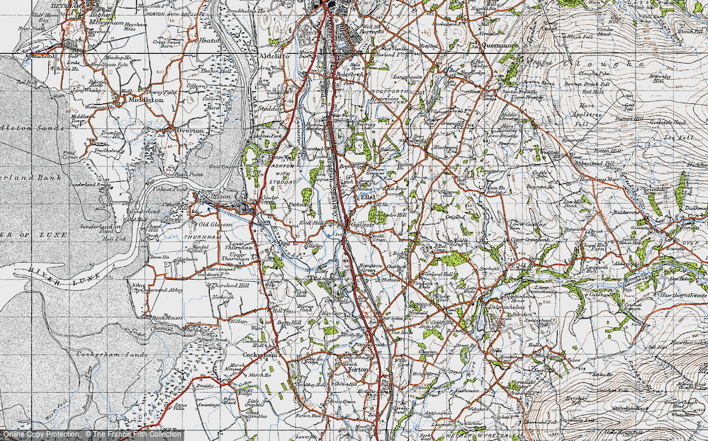 Old Map of Galgate, 1947 in 1947