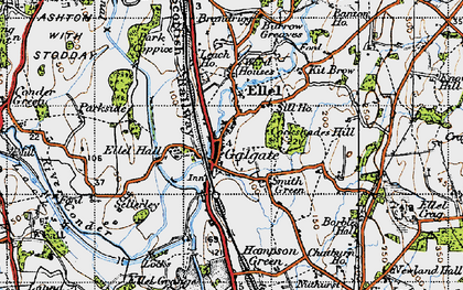 Old map of Galgate in 1947