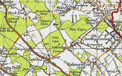 Old map of Wyfold Grange in 1947