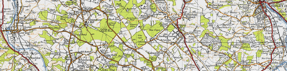 Old map of Withy Copse in 1947