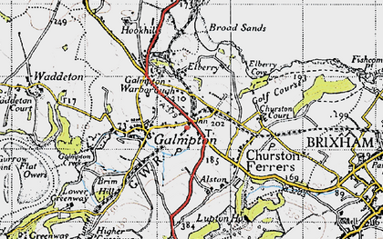 Old map of Galmpton in 1946