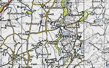 Old map of Gam in 1946