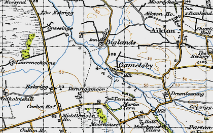 Old map of Lawrenceholme in 1947