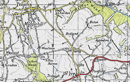 Old map of Gang in 1946