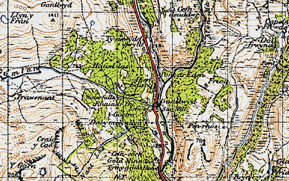 Old map of Aber Eden in 1947