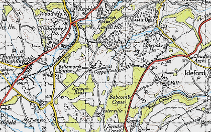 Old map of Babcombe in 1946