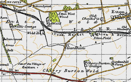 Old map of Westwood Ho in 1947