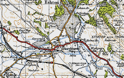 Old map of Gargrave in 1947