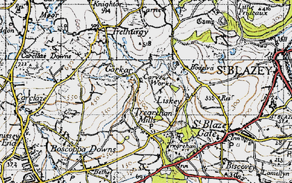 Old map of Garker in 1946