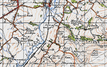 Old map of Garn-swllt in 1947