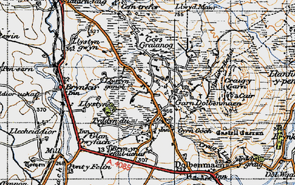 Old map of Garndolbenmaen in 1947