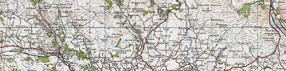 Old map of Whiteside Pike in 1947