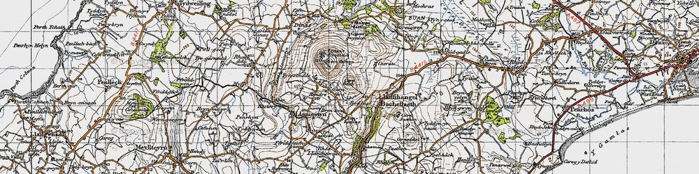 Old map of Tyn Lôn in 1947