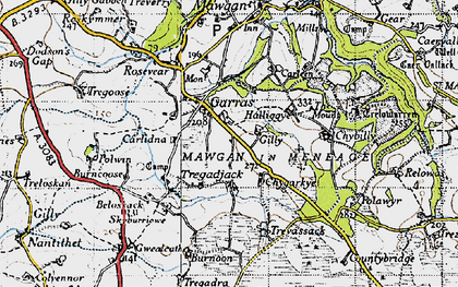 Old map of Garras in 1946