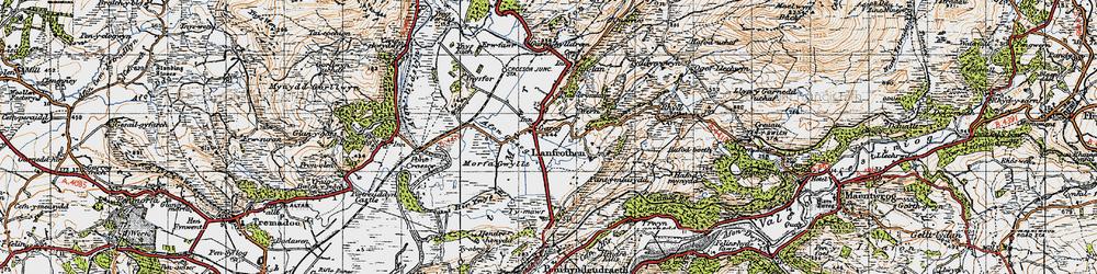 Old map of Garreg in 1947